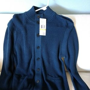 Kenneth Cole New York Full Button Up Knit Sweater